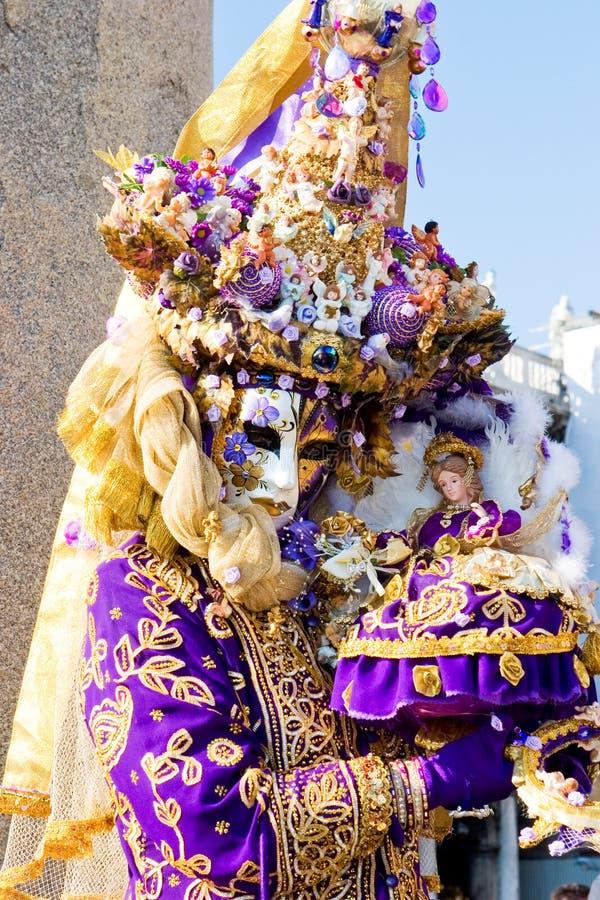 femme de Venise de costume de carnaval images stock