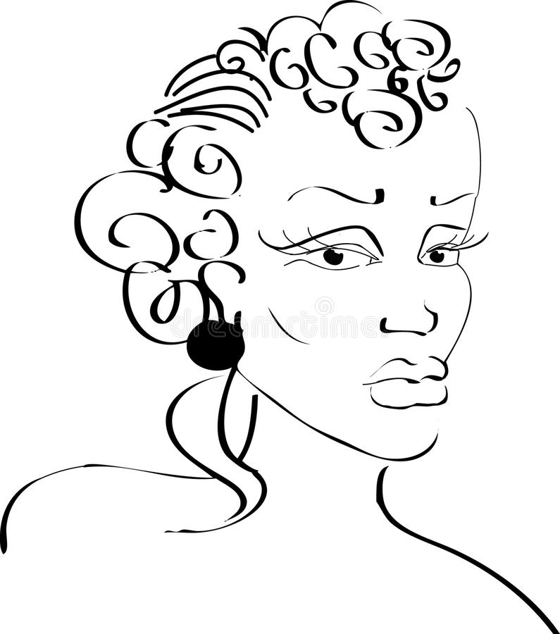 femme de visage noir photos stock