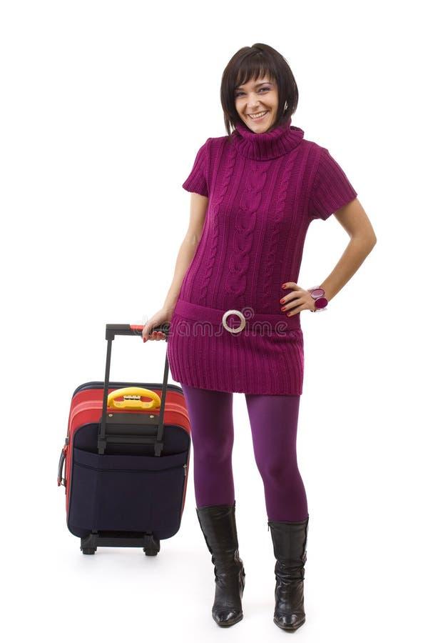 Femme de voyageur photos stock