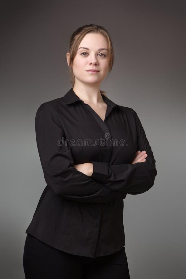 Femme debout d'affaires photos stock