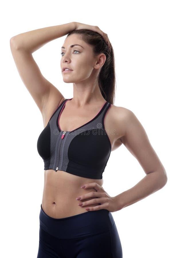 Femme debout de forme physique tirée dans le studio photo stock