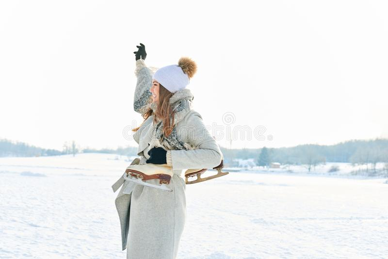 Femme des vacances d'hiver photos libres de droits