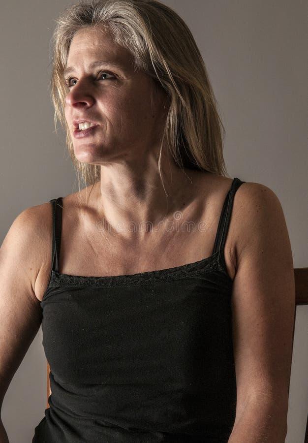 Femme devenant fâchée photo libre de droits
