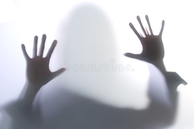 femme diffuse de silhouette photographie stock