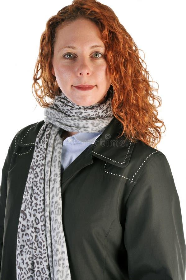 Femme dirigée rouge d'affaires photographie stock