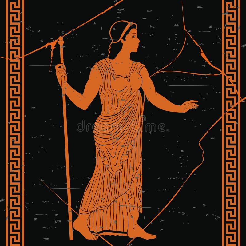 Femme du grec ancien illustration libre de droits