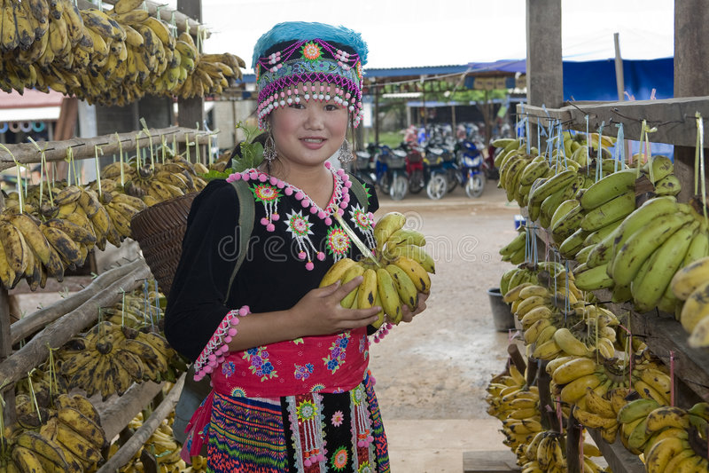 femme du Laos de hmong photos stock