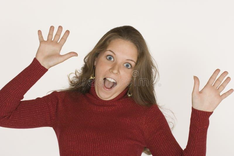 Femme effectuant des visages image libre de droits