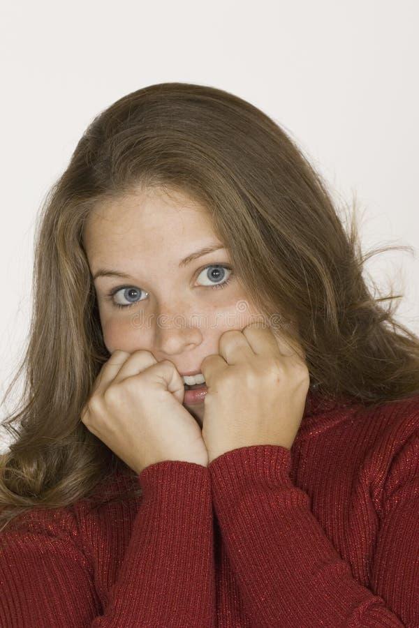 Femme effectuant des visages photo libre de droits
