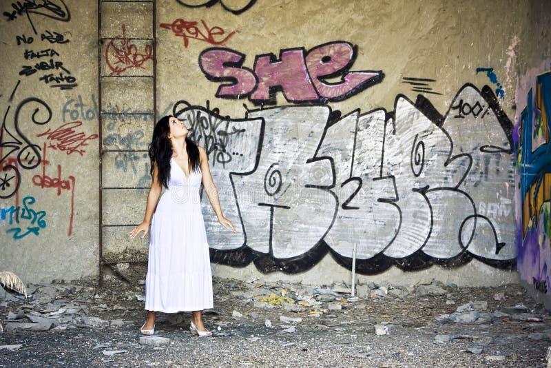 Femme effrayé photos stock