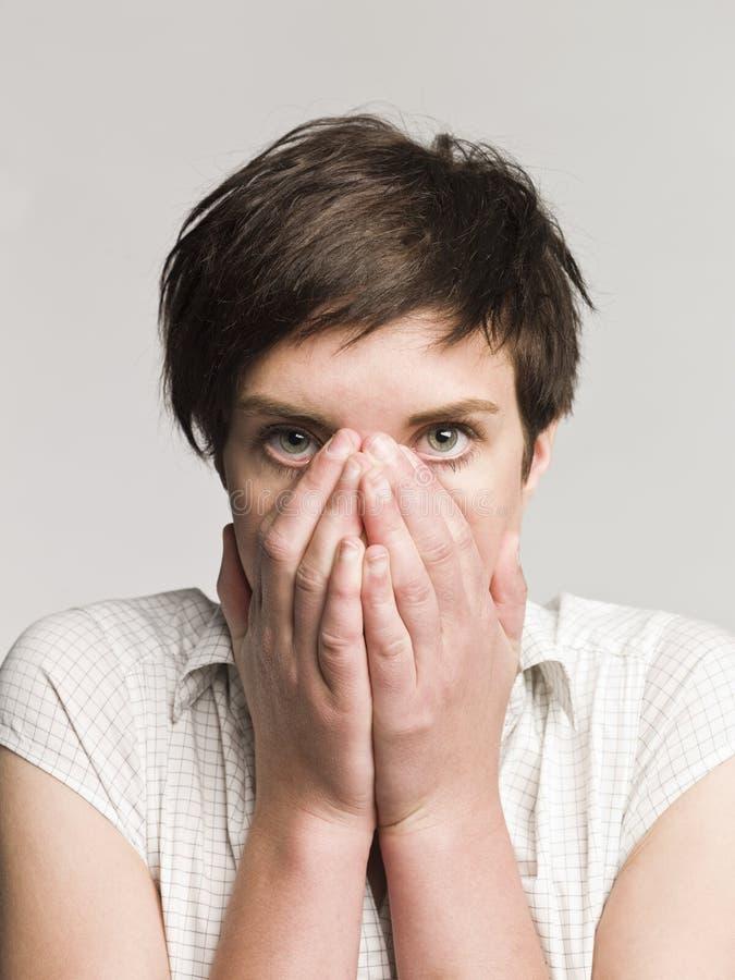 femme effrayé photographie stock