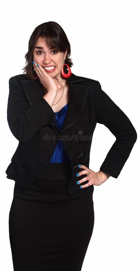 Femme Embarrassed photographie stock libre de droits