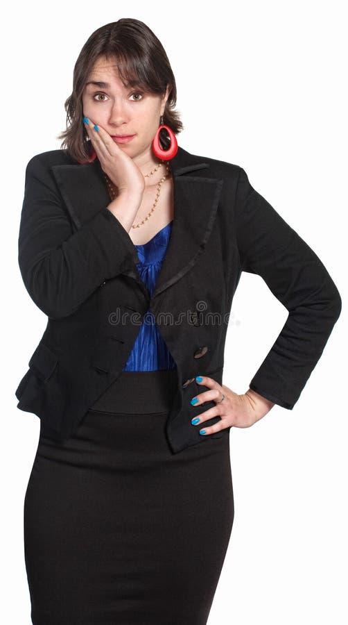 Femme Embarrassed photo libre de droits