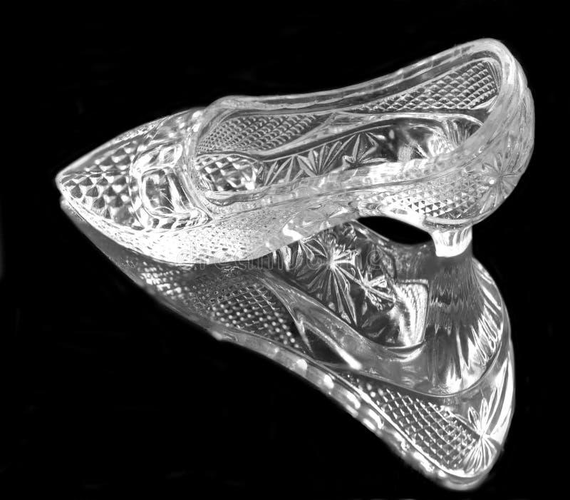 femme en cristal noire de chaussure images stock