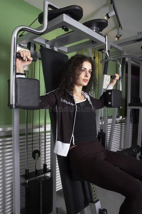 Femme en gymnastique images libres de droits