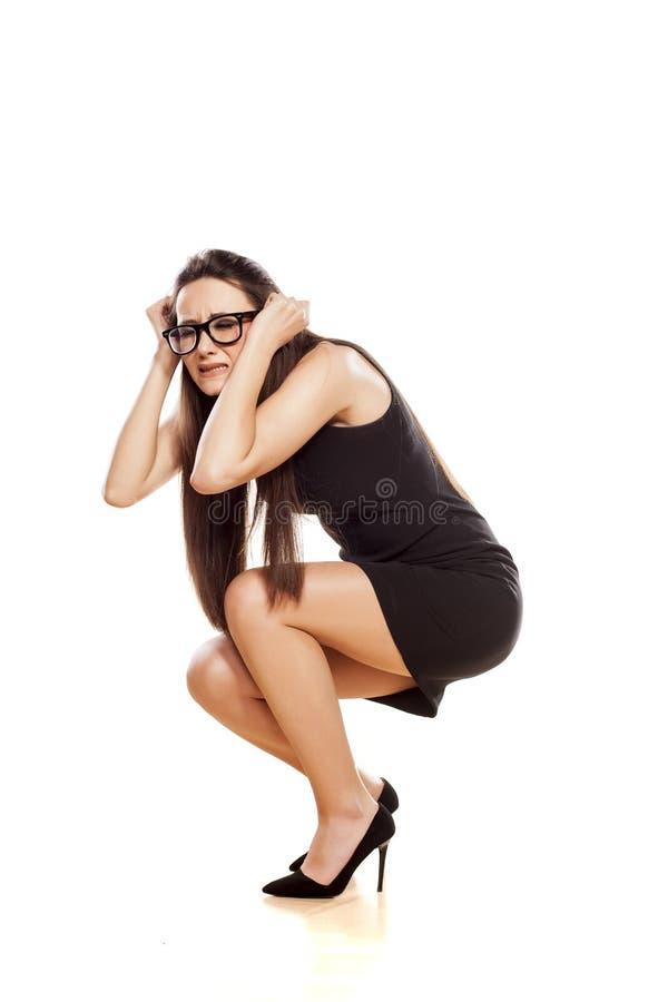 Femme en position de défense photo libre de droits