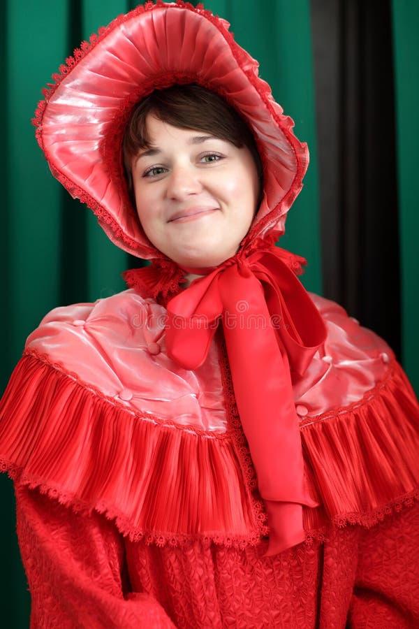 Femme en rouge photos stock