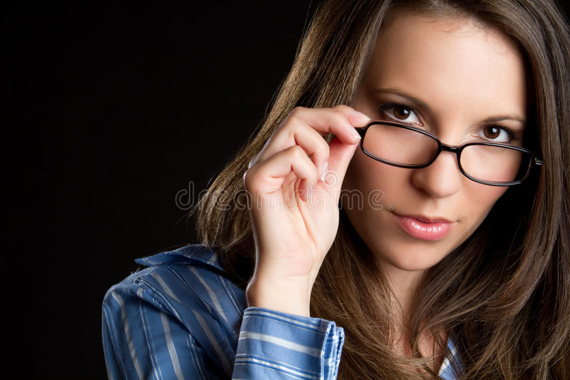 Femme en verre photos stock