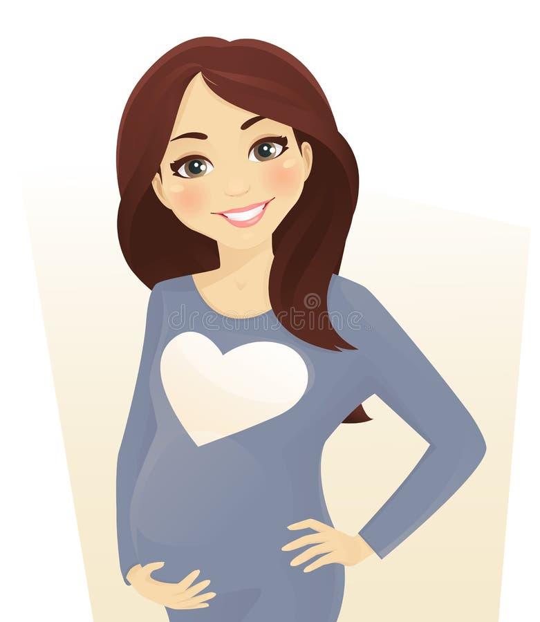 Femme enceinte illustration de vecteur