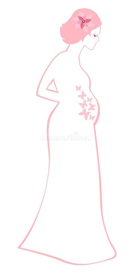 Femme enceinte illustration stock