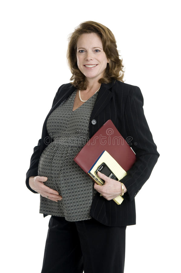 Femme enceinte d'affaires photo stock