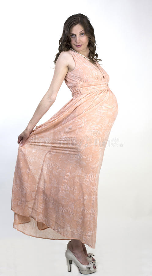 Femme enceinte de jeunes photos stock