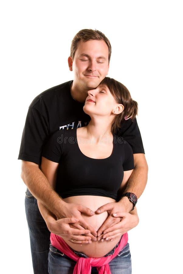 Femme enceinte et son mari photo libre de droits