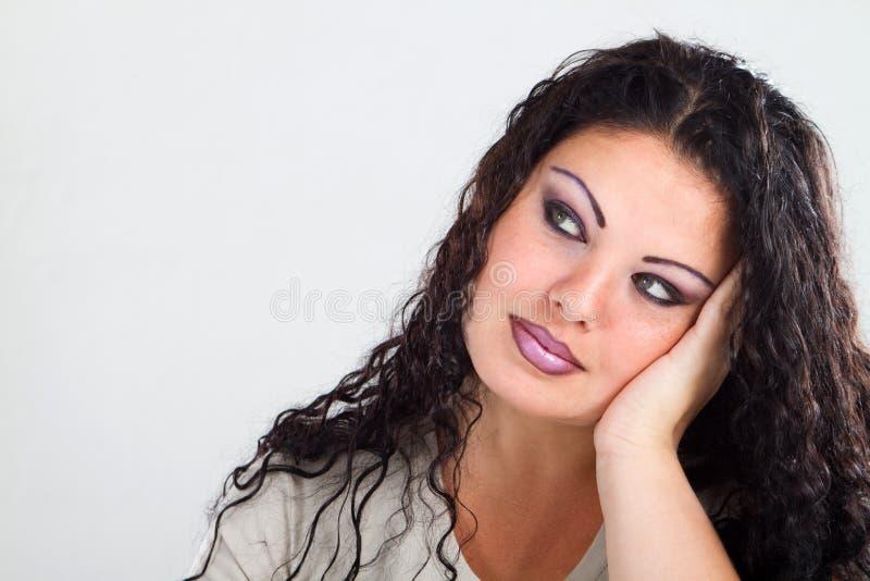Femme ennuyé photographie stock