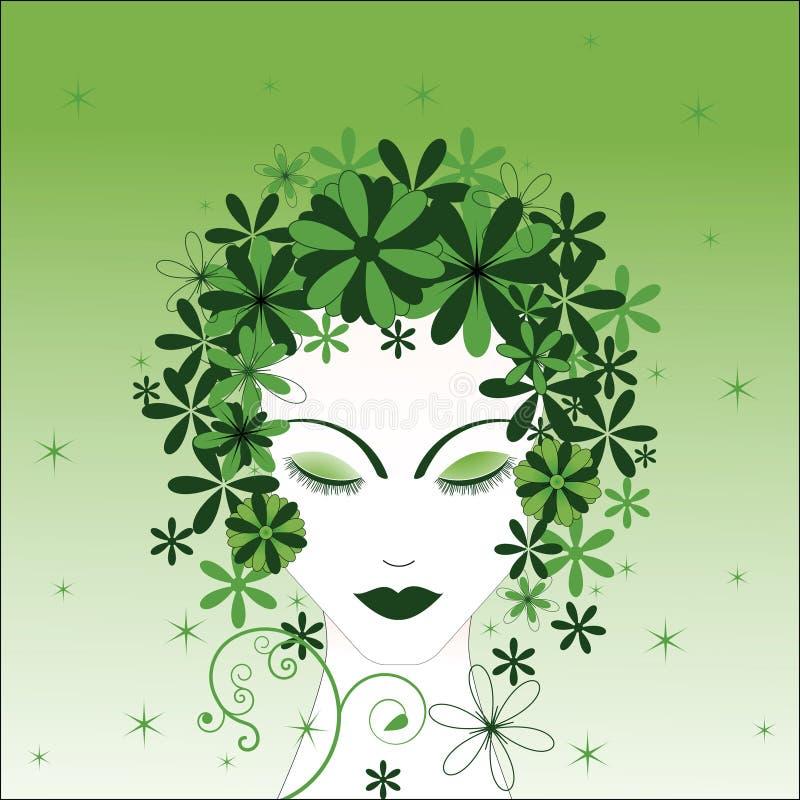 Femme environnemental illustration libre de droits