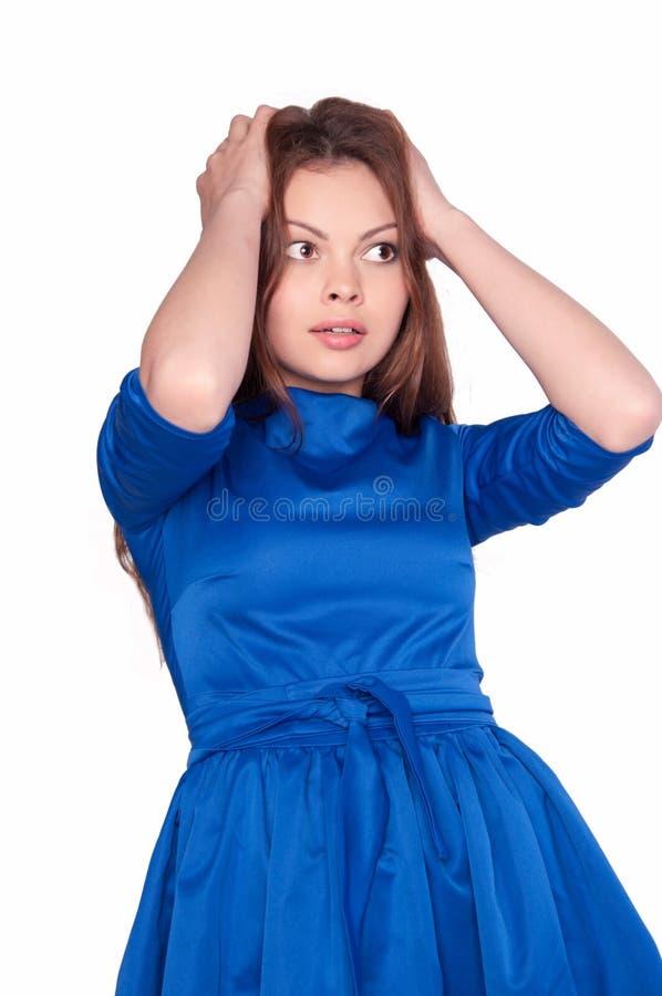 Femme essayant de se rappeler quelque chose photographie stock libre de droits