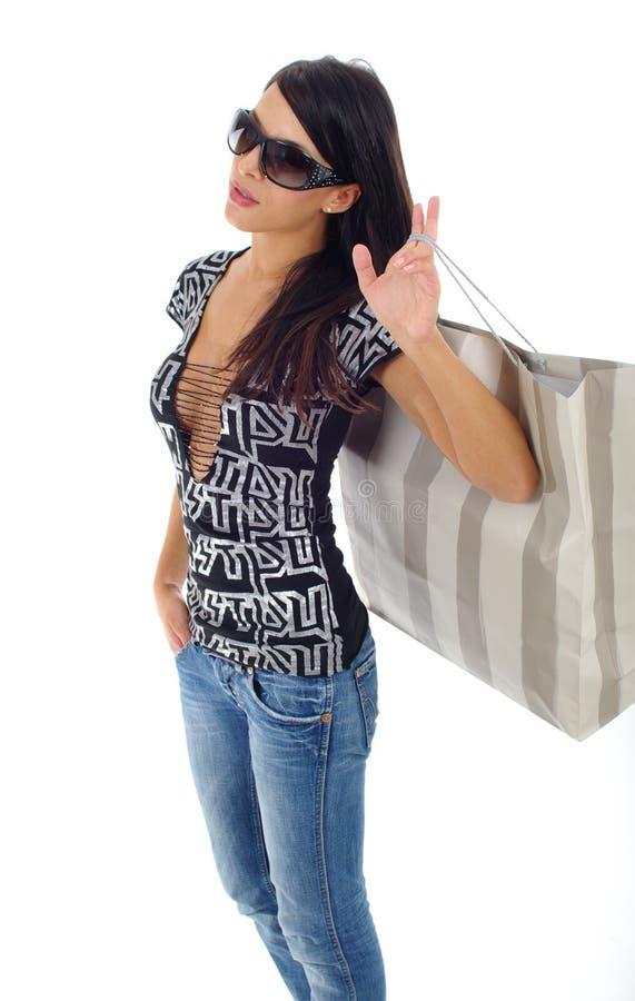 Femme et achats images stock
