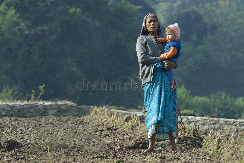 Femme et enfant indiens photos libres de droits