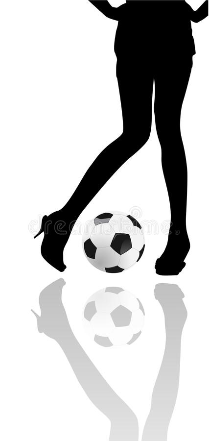 Femme et football [2] illustration libre de droits