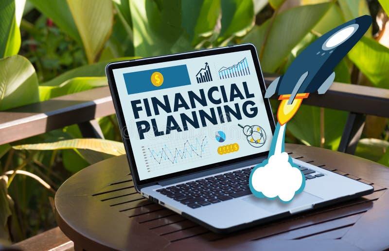 femme et homme de planification de la retraite de planification financière au retireme illustration de vecteur