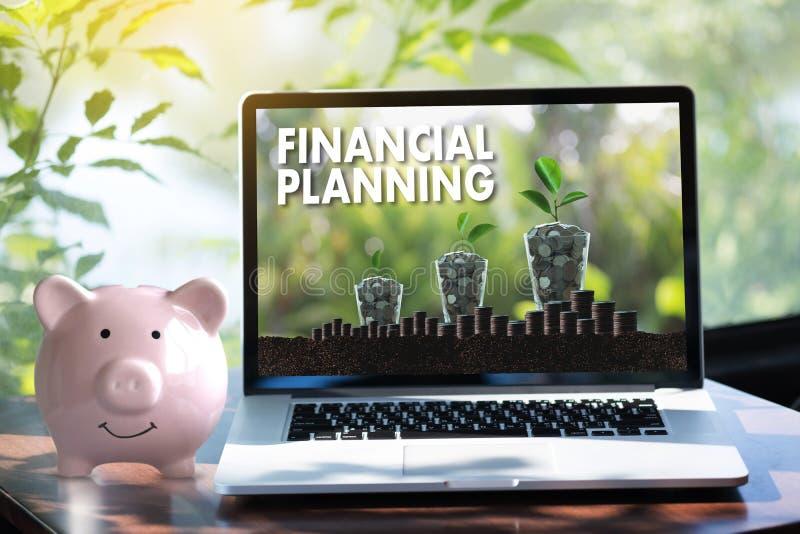 femme et homme de planification de la retraite de planification financière au retireme illustration libre de droits