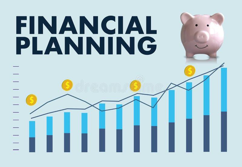 femme et homme de planification de la retraite de planification financière au retireme illustration stock