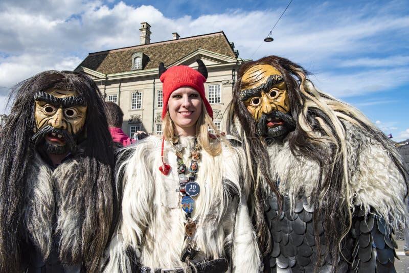 Femme et Masker au carnaval photos libres de droits