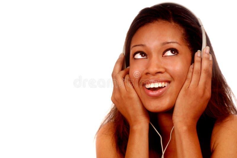 Femme et musique images libres de droits