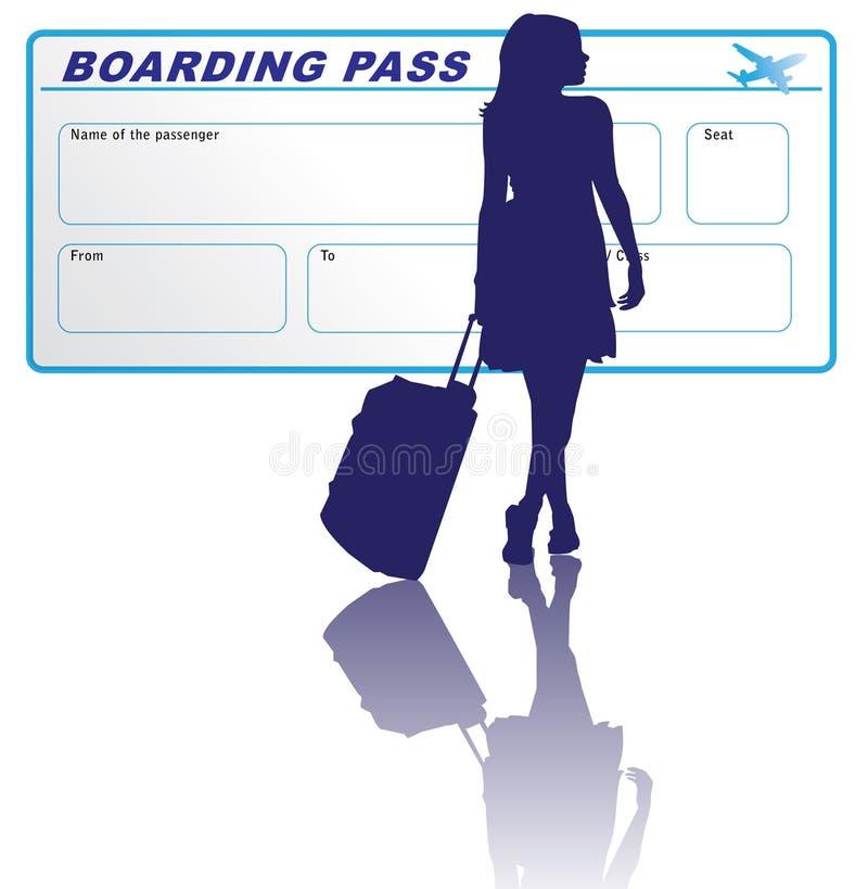 Femme et passage d'embarquement illustration libre de droits