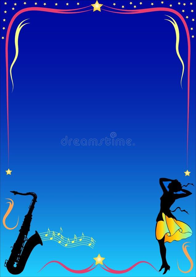 Femme et saxophon illustration de vecteur