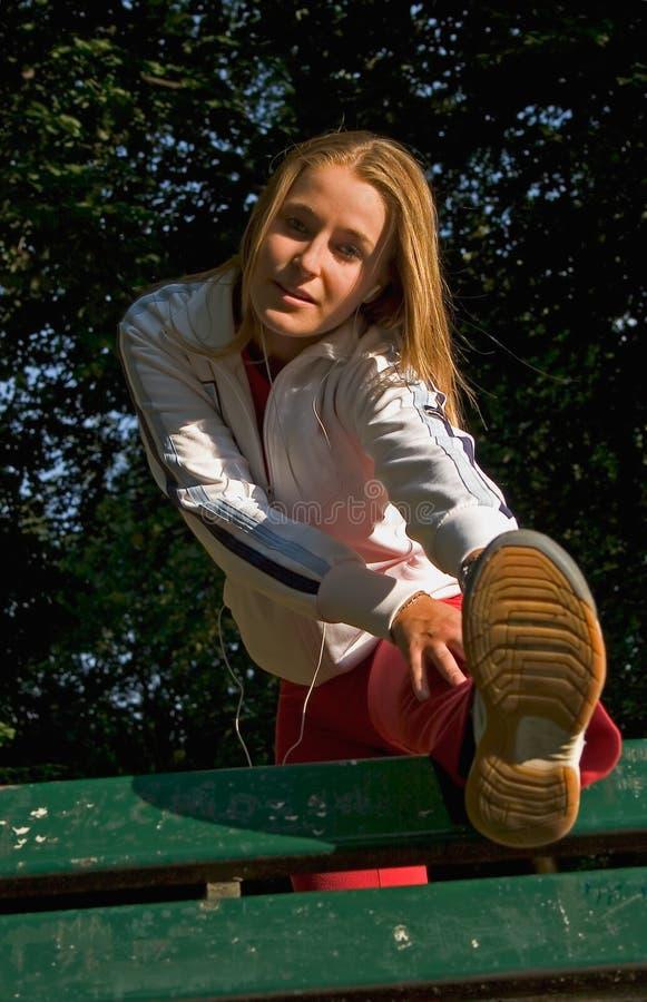 Femme et sport images libres de droits