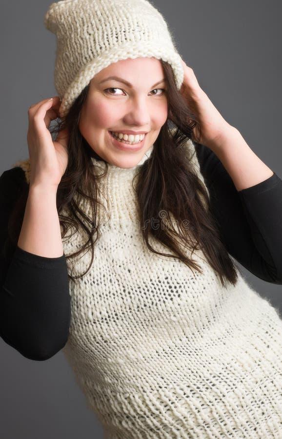 Femme et vêtements chauds photographie stock libre de droits