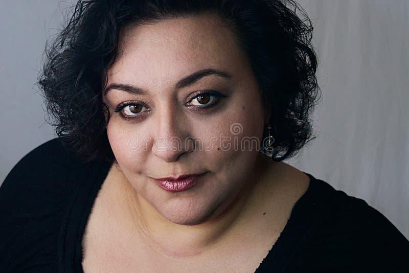 Femme ethnique avec le maquillage photo stock