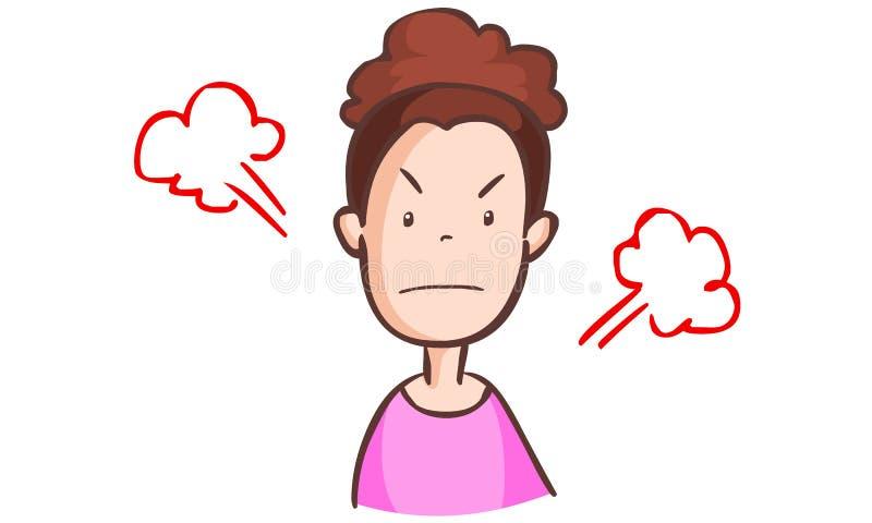 Femme fâchée illustration stock