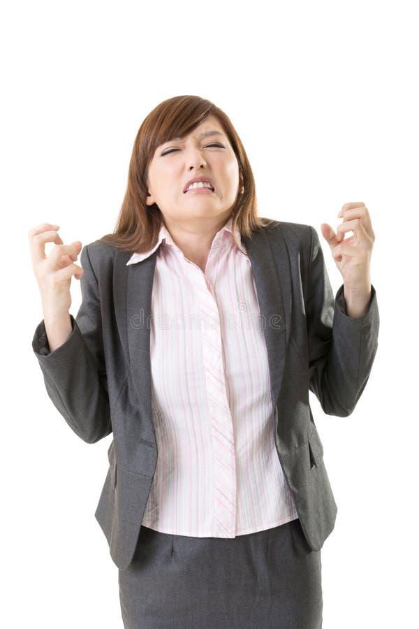 Femme fâchée d'affaires photographie stock