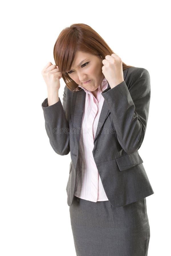 Femme fâchée d'affaires photos stock