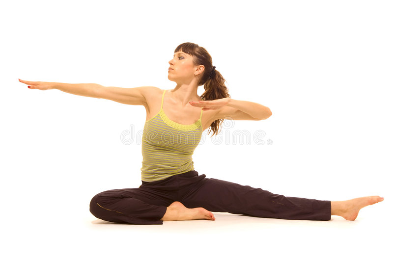 Femme faisant l'exercice physique photos stock