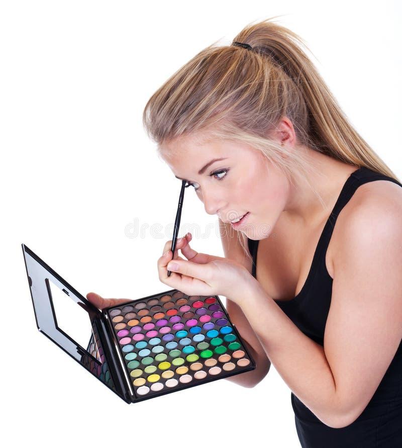 Femme faisant le renivellement photos libres de droits