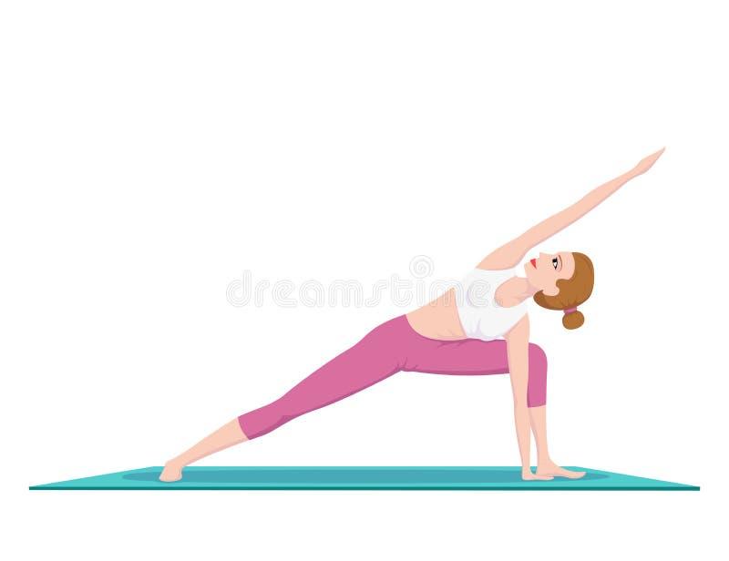 Femme faisant le yoga illustration de vecteur