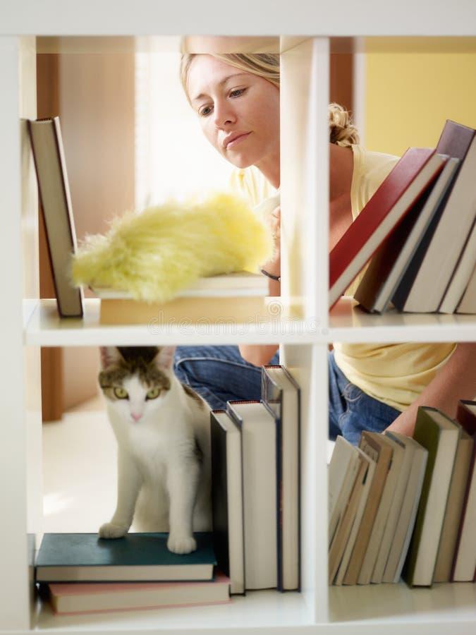 Femme faisant les travaux domestiques photos libres de droits